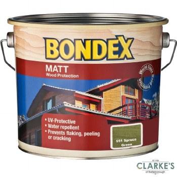 Bondex Matt Wood Protection Spurce Green 2.5 Litre