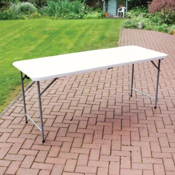 White Plastic Folding Table 6ft