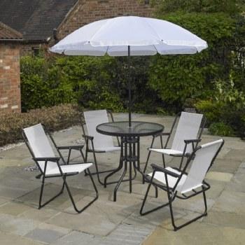 Deluxe White Garden Furniture Set