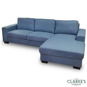 Boston Corner Sofa Right Chaise Light Blue