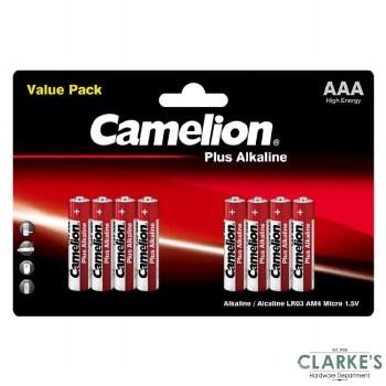 Camelion Plus Alkaline AAA Batteries 8 Pack