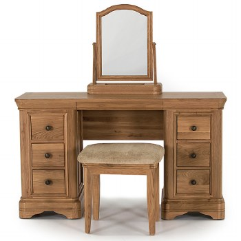 Carmen Oak dressing table set