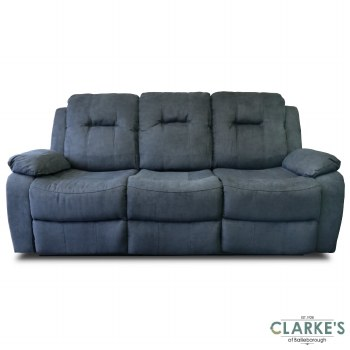 Cosmic Fully Electric Reclining 3 Seater Sofa Charcoal Grey