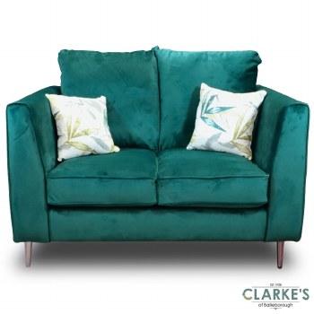 Daisy 3 Seater Plush Velvet Sofa Emerald