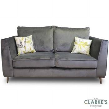 Daisy 2 Seater Plush Velvet Sofa Emerald