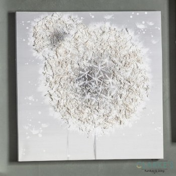 Dandelion Breeze - textured canvas wall art