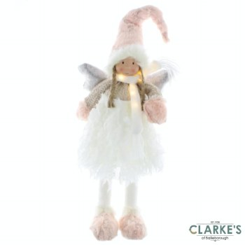 Christmas Angel In Lit Battery Operated 37cm