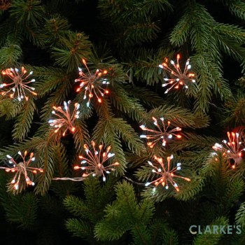 LED Starburst Christmas Lights - Red / White