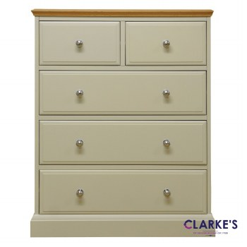 French Oak 2 Over 3 Chest