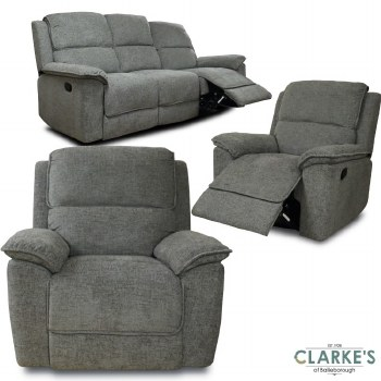 Galaxy 3 + 1 + 1 Recliner Sofa Suiite. Fast Dispatch ! FREE Delivery !