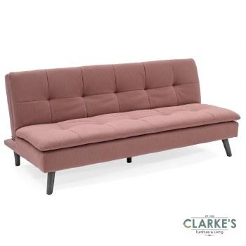 Hannah Sofa Bed Coral Pink