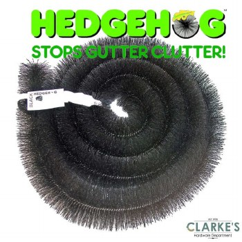 Hedgehog Gutter Brush. Stop Gutter Clutter!