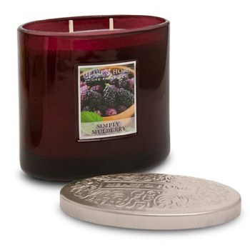 Heart & Home Simply Mulberry 2 Wick Scented Ellipse Candle