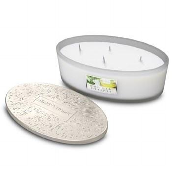 Heart & Home White Tea & Eucalyptus 4 Wick Scented Ellipse Candle