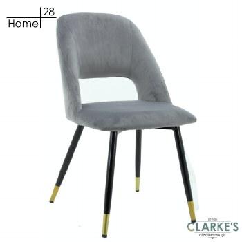 Bursa Velvet Dining Chair Light Grey