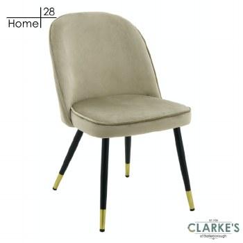 London Velvet Dining / Accent Chair Beige