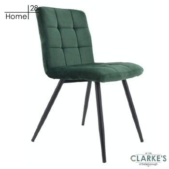 Palma Velvet Dining Chair Green