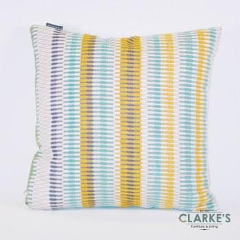 Deco Weave Stripe Multi Blue Cushion