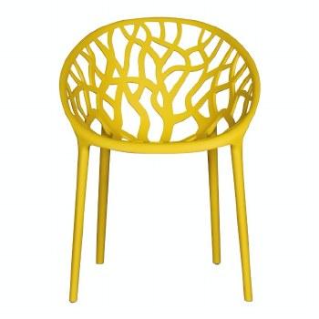 Millie Trellis Garden Chair Yellow