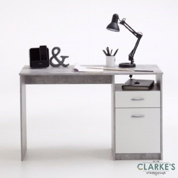 Jackson Writing Desk Conrete Effect