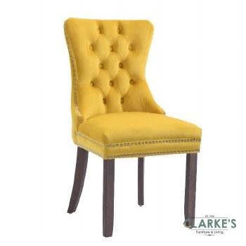 Kacey gold velvet dining chair