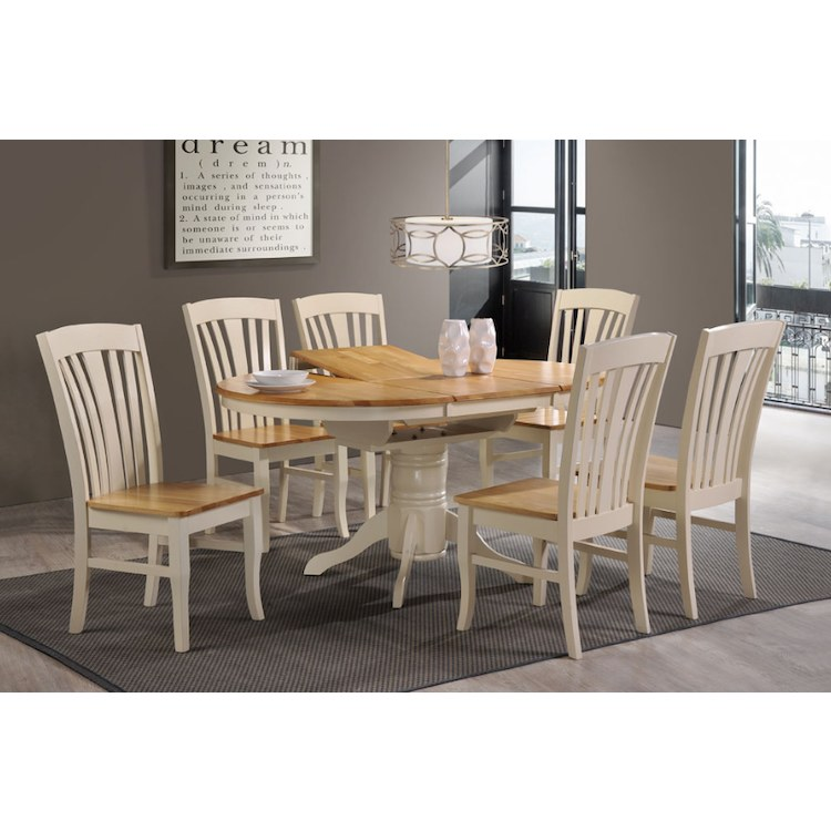 Brilliant Normandy Dining Set Cream Extending Table 6 Chairs Squirreltailoven Fun Painted Chair Ideas Images Squirreltailovenorg