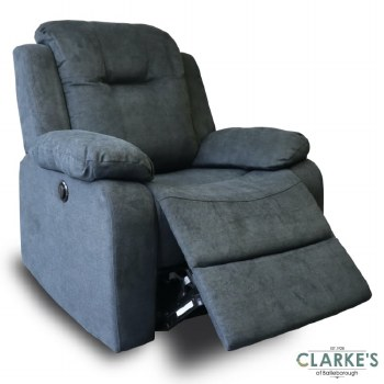 Cosmic Fully Electric Reclining Armchair Charcoal Grey
