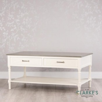 Lucia Coffee Table with Drawers