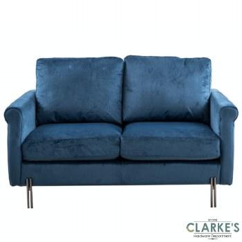Madison 2 Seater Velvet Sofa Royal Blue