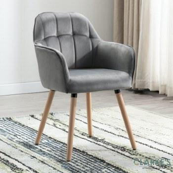 Manhattan grey velvet accent chair