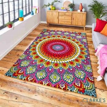 Mosaic Multicolour 22841 Rug 120 x 170cm