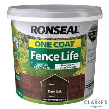 Ronseal One Coat Fence Life Dark Oak 5L