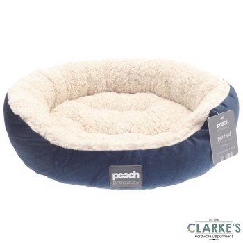 Luxury Style Sherpa Pet Bed Blue