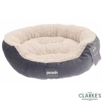 Luxury Style Sherpa Pet Bed Grey