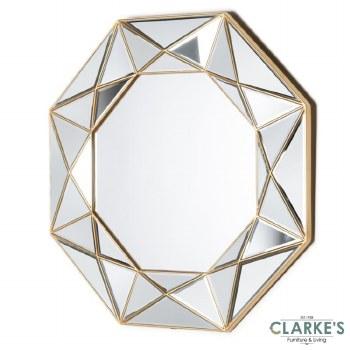 Prism Geo gold wall mirror 90cm