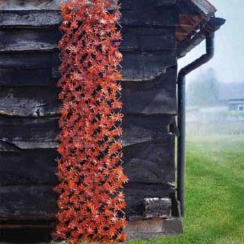 Artificial Red Acer Leaf Trellis 180 x 90 cm