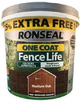Ronseal One Coat Fence Life Medium Oak 5L
