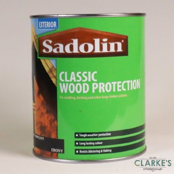 Sadolin Classic Woodstain Ebony 1 Litre