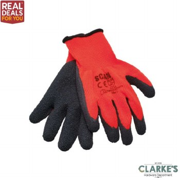 Scan Thermal Latex Gloves 5 Pack