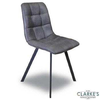 Selina Grey Fabric Dining Chair