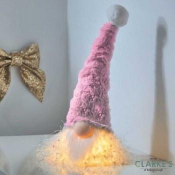 Glo-Kert Pink LED Lit-Up Christmas Figure