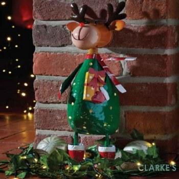 Polka Rudolph Christmas Figure 44cm