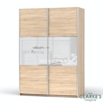 Sonoma Oak Sliderobe 150 cm