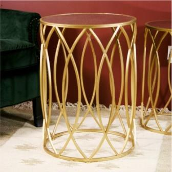 Waves Large Side Table Gold