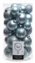 Christmas Tree 30 Baubles Blue Mist