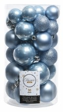 Christmas Tree 30 Baubles Blue