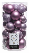 Christmas Tree 30 Baubles Lilac
