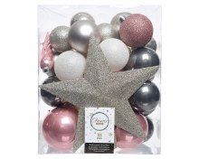 Decoris Christmas Tree Baubles with Topper
