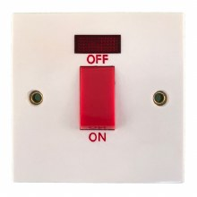 45A Cooker Switch with Neon