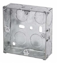 1G 25mm Galvanised Box